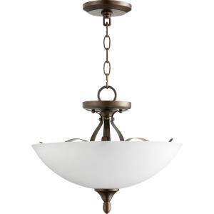 Jardin - 3 Light Dual Mount Convertible Pendant in Quorum Home Collection style - 15 inches wide by 12 inches high