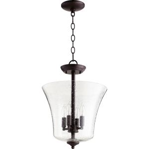 4 Light Vessel Dual Mount Pendant in Transitional style - 13 inches wide by 16 inches high