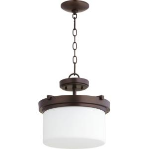 Lancaster - 2 Light Dual Mount Pendant in Transitional style - 13 inches wide by 12 inches high