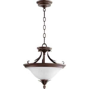 Flora - 2 Light Convertible Pendant in Traditional style - 13 inches wide by 14 inches high