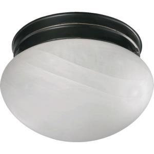2 Light Mushroom Flush Mount in style - 9.75 inches wide by 5.75 inches high