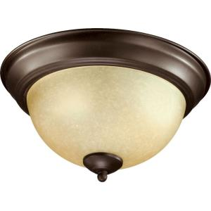 2 Light Flush Mount in Transitional style - 11.25 inches wide by 6.5 inches high
