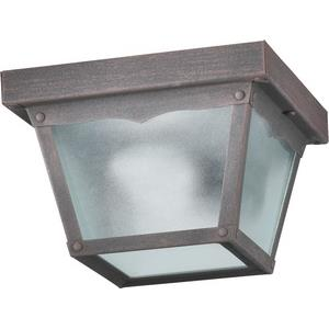 One Light Outdoor Cage Flush Mount