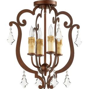 Montgomery - 4 Light Flush Mount in Transitional style - 16.5 inches wide by 19 inches high