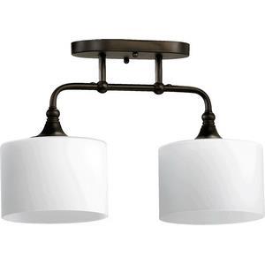 Rockwood - Two Light Semi-Flush Mount