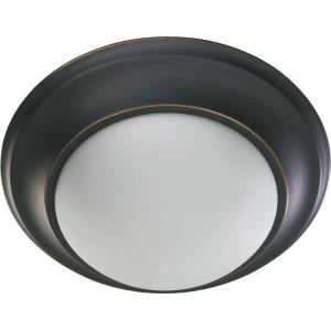 2 Light Flush Mount in Quorum Home Collection style - 14 inches wide by 5.5 inches high