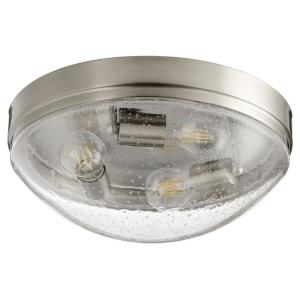 3 Light Flush Mount in Contemporary style - 14 inches wide by 5.75 inches high