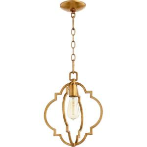 Dublin - 1 Light Pendant in Quorum Home Collection style - 11 inches wide by 14 inches high