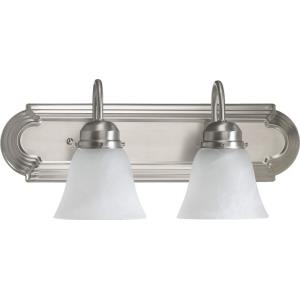 2 Light Bath Vanity in Quorum Home Collection style - 18 inches wide by 8 inches high