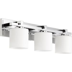 3 Light Cylinder Bath Vanity in style - 24 inches wide by 7.5 inches high