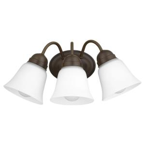 3 Light Wall Mount in Traditional style - 16.5 inches wide by 7.5 inches high