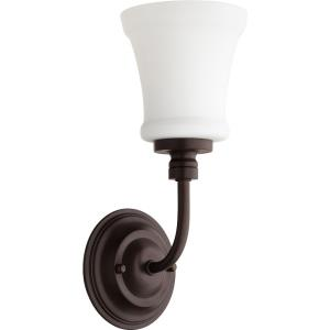 Rossington - 1 Light Wall Mount in Quorum Home Collection style - 5 inches wide by 12.5 inches high