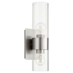 2 Light Fluted Wall Mount