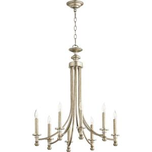 Rossington - 8 Light Chandelier in Quorum Home Collection style - 24.5 inches wide by 28.5 inches high