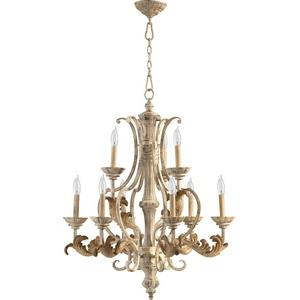 Florence - 9 Light 2-Tier Chandelier in Transitional style - 28 inches wide by 34 inches high