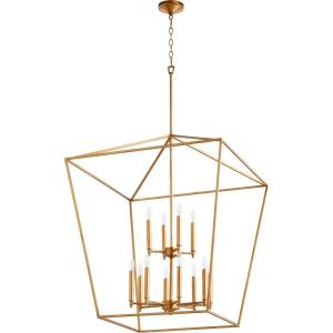Gabriel - Twelve Light 2-Tier Entry Pendant in Quorum Home Collection style - 29 inches wide by 32.25 inches high