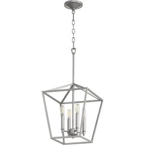 Gabriel - 4 Light Entry Pendant in Quorum Home Collection style - 12.5 inches wide by 16 inches high