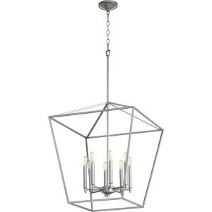 Gabriel - 8 Light Entry Pendant in Quorum Home Collection style - 22 inches wide by 26.25 inches high