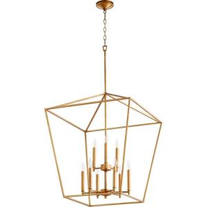 Gabriel - 9 Light 2-Tier Entry Pendant in Quorum Home Collection style - 24 inches wide by 29.5 inches high