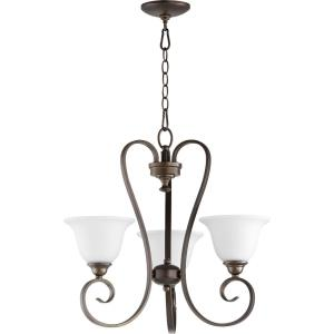 Celesta - 3 Light Chandelier in Quorum Home Collection style - 21.25 inches wide by 20.5 inches high