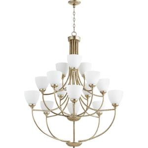Enclave - Fifteen Light 2-Tier Chandelier in Quorum Home Collection style - 38.5 inches wide by 44 inches high