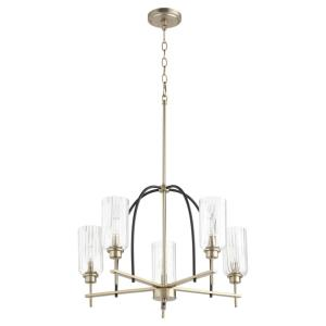 Espy - 5 Light Chandelier in Soft Contemporary style - 26 inches wide by 17.25 inches high