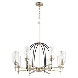 Espy - 8 Light Chandelier in Soft Contemporary style - 31.75 inches wide by 18.75 inches high