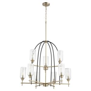 Espy - 9 Light Chandelier in Soft Contemporary style - 32 inches wide by 30 inches high