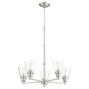 Dunbar - 5 Light Chandelier in Soft Contemporary style - 25 inches wide by 19.75 inches high