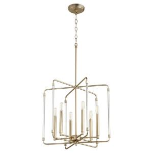 Optic - 6 Light Pendant in Soft Contemporary style - 20 inches wide by 18 inches high