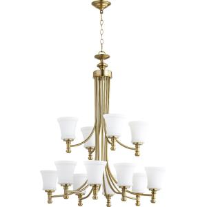Rossington - Twelve Light Chandelier in Quorum Home Collection style - 35.25 inches wide by 37 inches high