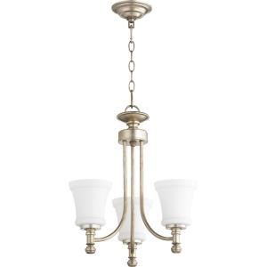 Rossington - 3 Light Chandelier in Quorum Home Collection style - 18 inches wide by 19 inches high