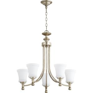 Rossington - 5 Light Chandelier in Quorum Home Collection style - 25 inches wide by 25 inches high