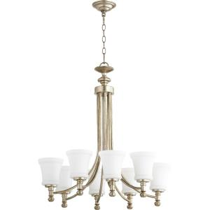 Rossington - 8 Light Chandelier in Quorum Home Collection style - 27 inches wide by 29 inches high
