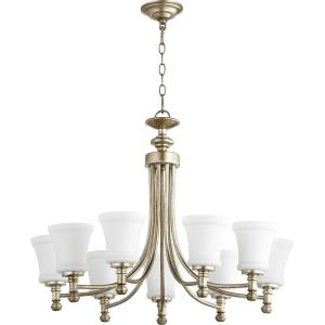 Rossington - 9 Light 2-Tier Chandelier in Quorum Home Collection style - 31 inches wide by 23 inches high