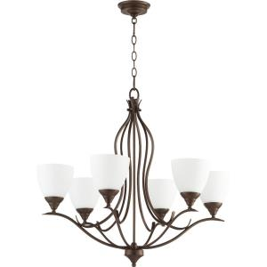Flora - 6 Light Chandelier in Transitional style - 29 inches wide by 26.25 inches high
