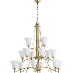 Aspen - Fifteen Light 3-Tier Chandelier in Transitional style - 40.5 inches wide by 37.75 inches high