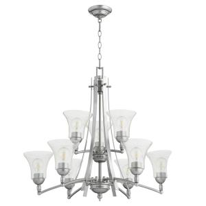 Aspen - 9 Light 2-Tier Chandelier in style - 30 inches wide by 27.25 inches high