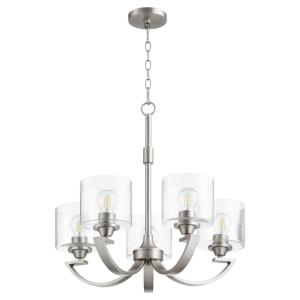 Dakota - 5 Light Chandelier in Soft Contemporary style - 24 inches wide by 23 inches high