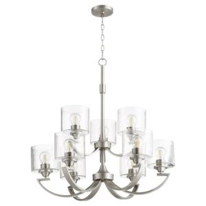 Dakota - 9 Light Chandelier in Soft Contemporary style - 30 inches wide by 31 inches high