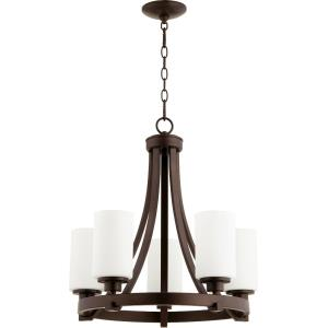 Lancaster - 5 Light Chandelier in Transitional style - 21 inches wide by 21.5 inches high