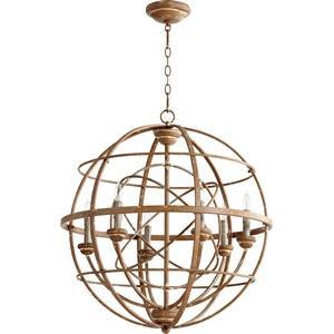 Salento - Six Light Sphere Chandelier