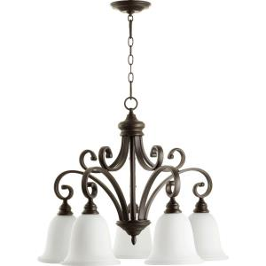 Bryant - 5 Light Nook Pendant in Quorum Home Collection style - 30 inches wide by 23.75 inches high