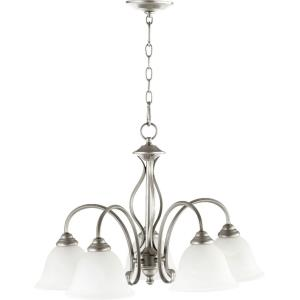 Spencer - 5 Light Nook Pendant in Quorum Home Collection style - 24 inches wide by 20 inches high