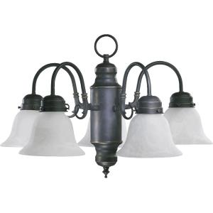 5 Light Nook Pendant in Traditional style - 20 inches wide by 14 inches high