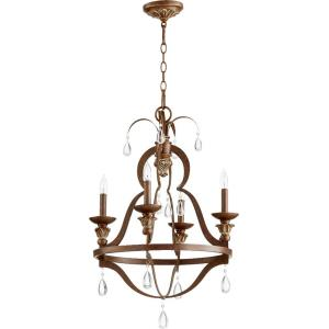 "Venice - 19.50"" Four Light Chandelier"