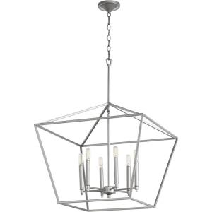 Gabriel - 6 Light Nook Pendant in Quorum Home Collection style - 24 inches wide by 23 inches high