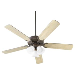 Virtue - 5 Blade Ceiling Fan in Quorum Home Collection style - 52 inches wide by 16.93 inches high