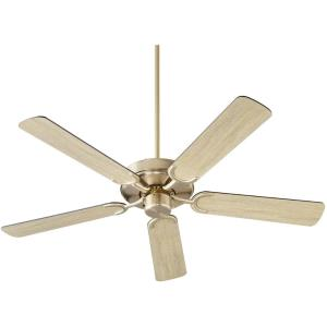 Virtue - 5 Blade Ceiling Fan in Quorum Home Collection style - 52 inches wide by 11.33 inches high