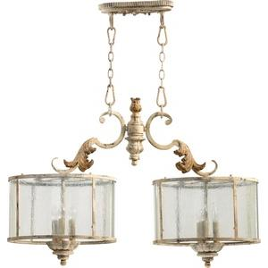 Florence - 6 Light Island in Transitional style - 15.5 inches wide by 24 inches high